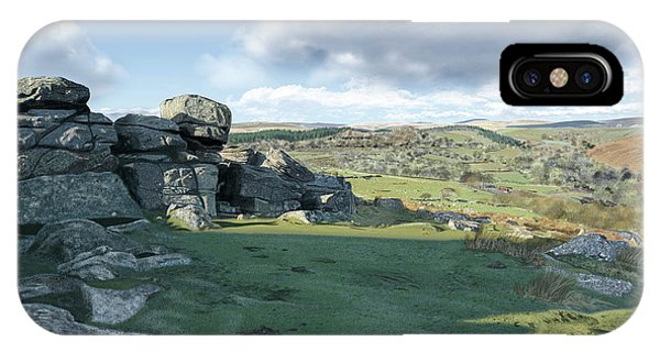 A View From Combestone Tor IPhone Case