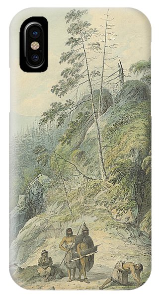 West Bay iPhone Case - A View In Nootka Sound, 1784 by John Webber