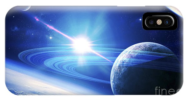 Luminous iPhone Case - A View Of A Planet As It Looms In Close by Kevin Lafin