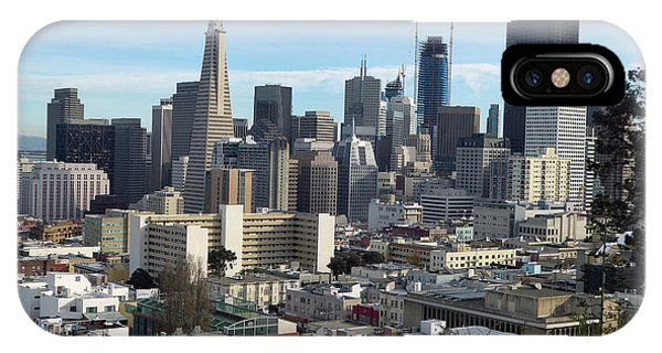 A View Of Downtown From Nob Hill IPhone Case