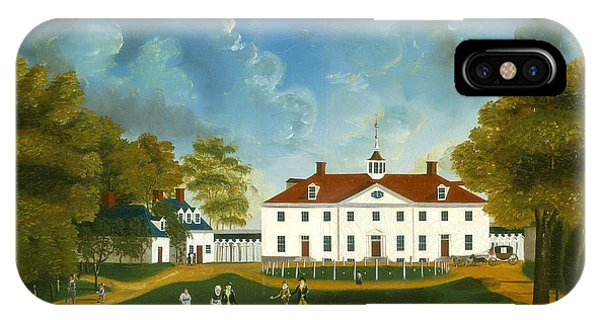 iPhone Case - A View Of Mount Vernon by American 18th Century