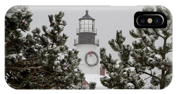 IPhone Case featuring the photograph A View Of The Portland Head Light by Darryl Hendricks
