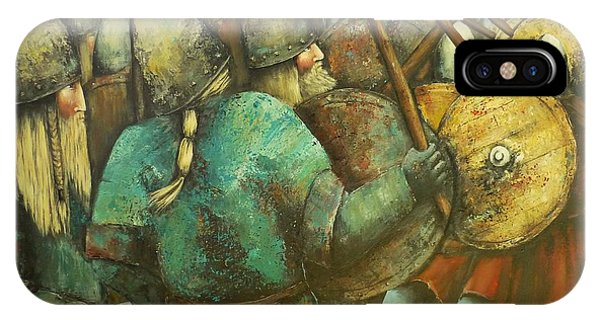 A Viking Skirmish IPhone Case