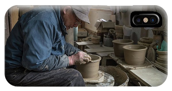 A Village Pottery Studio, Japan IPhone Case