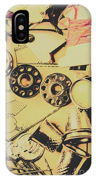 Textile Design iPhone Case - A Vintage Embellishment by Jorgo Photography - Wall Art Gallery