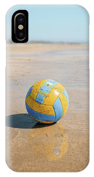 A Volleyball On The Beach IPhone Case