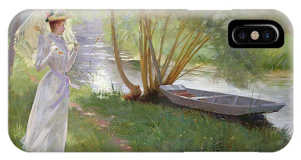 A Walk By The River IPhone Case