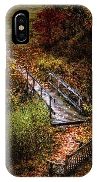 Park Bench iPhone Case - A Walk In The Park II by Tom Mc Nemar