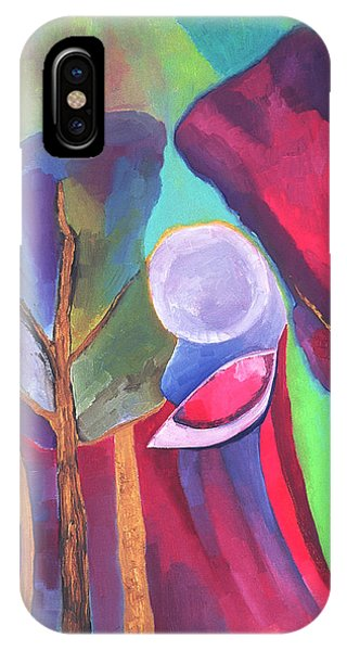 IPhone Case featuring the painting A Walk Through The Dream by Linda Cull