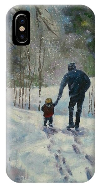 A Walk Thru The Winter Woods IPhone Case