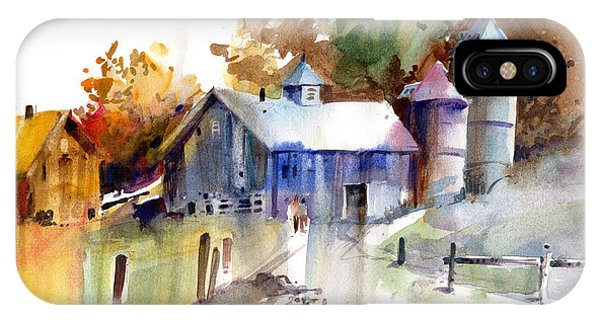 New England Barn iPhone Case - A Walk To The Barn by P Anthony Visco