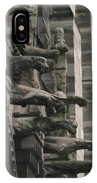 A Wall Of Gargoyles Notre Dame Cathedral IPhone Case