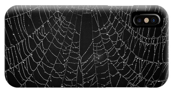 A Web Of Silver Pearls IPhone Case