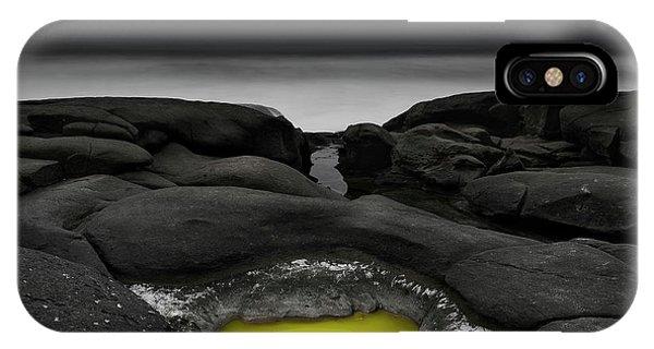 Cauldron iPhone Case - A Weird Tide Pool by Masako Metz