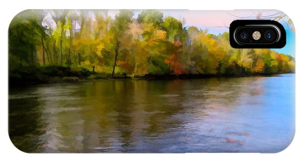 A Wide Scenic View Of Shetucket River. IPhone Case