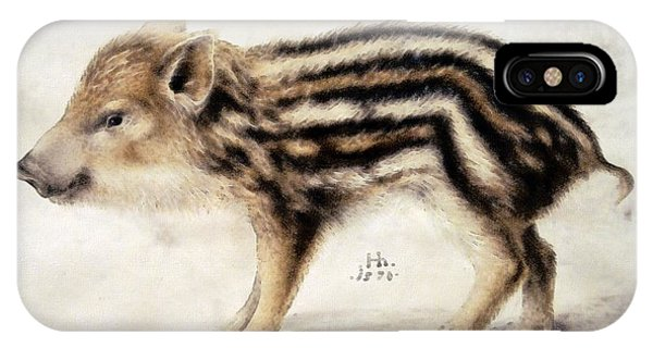 A Wild Boar Piglet IPhone Case