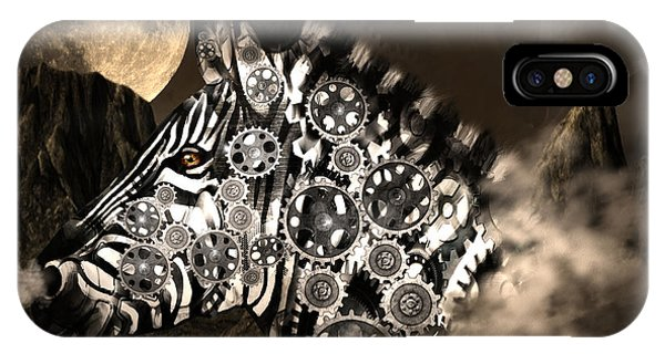 A Wild Steampunk Zebra IPhone Case