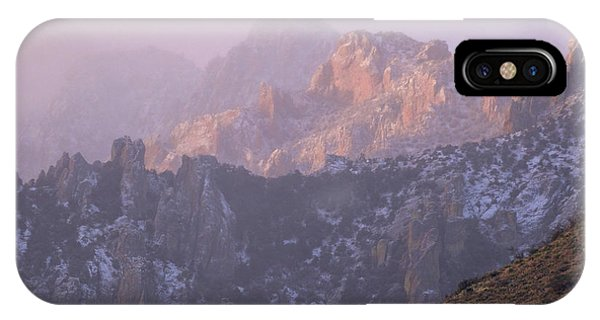 A Winter Morning At The Chiricahua Mountains'  Portal Peak IPhone Case