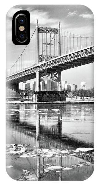 A Winter Portrait Of The Triboro Bridge IPhone Case