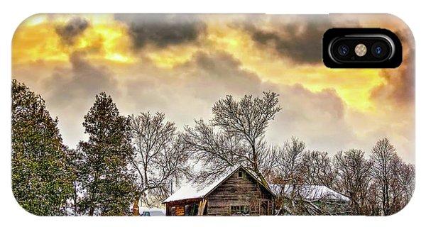 Steve Harrington iPhone Case - A Winter Sky by Steve Harrington