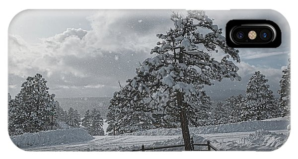 IPhone Case featuring the photograph A Winter Storm In Pagosa by Jason Coward