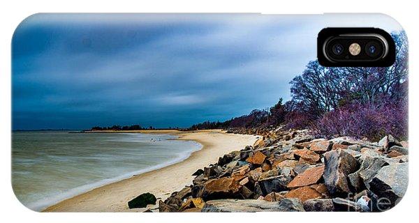 A Winter's Beach IPhone Case