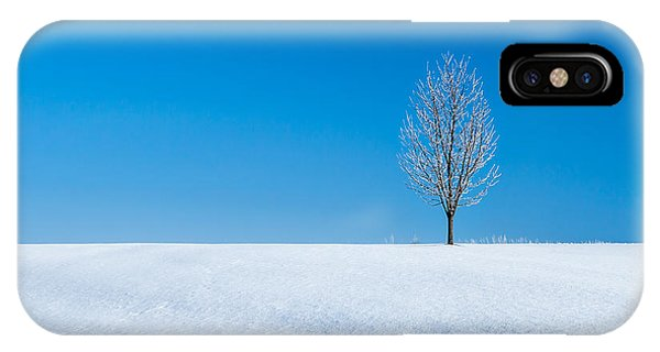 Cold Day iPhone Case - A Winter's Landmark by Todd Klassy