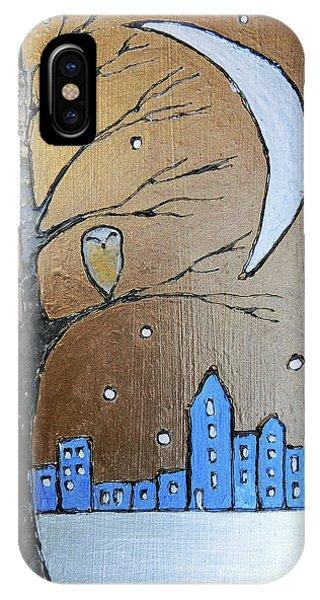 Simple iPhone Case - A Winter's Scene  by Callan Art