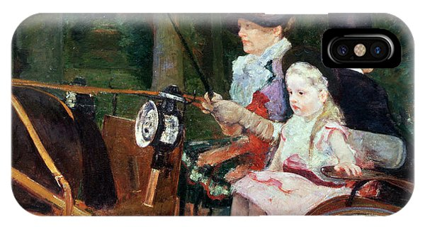 A Woman And Child In The Driving Seat IPhone Case