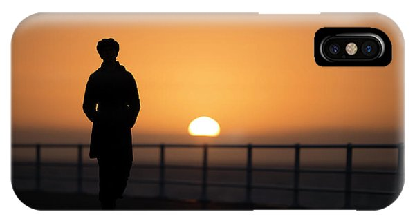 A Woman Silhouetted At Sunset IPhone Case