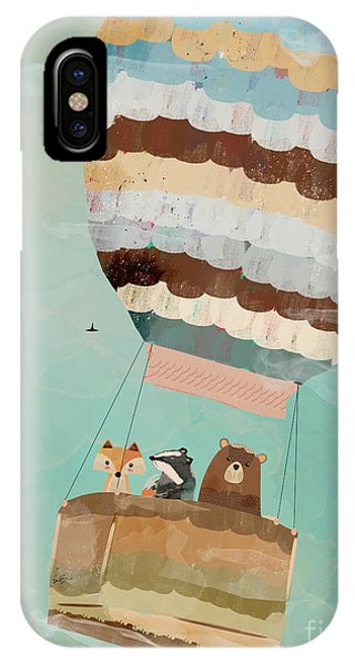Hot Air Balloons iPhone Case - A Wondrous Little Adventure by Bri Buckley
