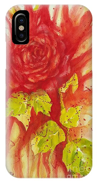 A Wounded Rose IPhone Case