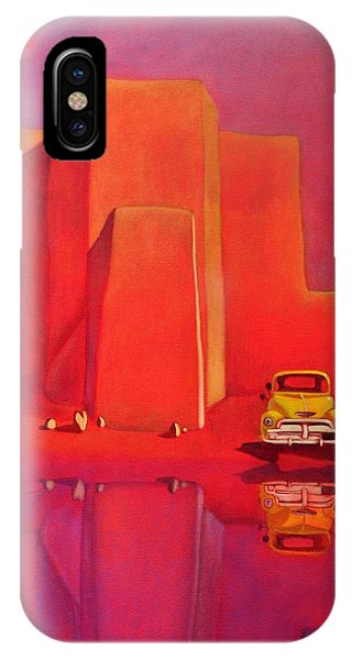 A Yellow Truck With A Red Moon In Ranchos IPhone Case