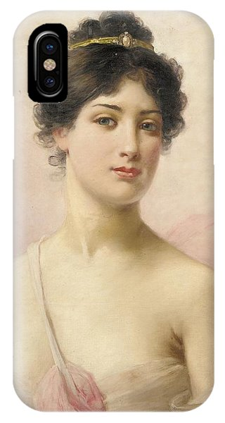 See iPhone Case - A Young Beauty by Jules Frederic Ballavoine