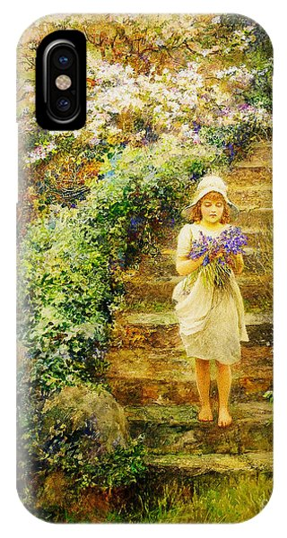 A Young Girl Carrying Violets IPhone Case