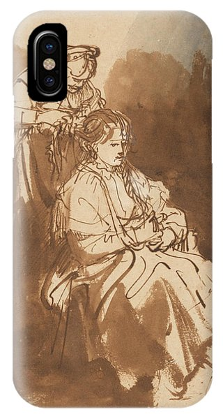 Baroque iPhone Case - A Young Woman Having Her Hair Braided by Rembrandt