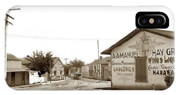 A. A. Manuel General Merchandise, Monterey 1901 IPhone Case