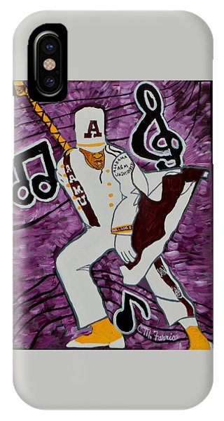 IPhone Case featuring the painting Aamu Drum Major by Christopher Farris