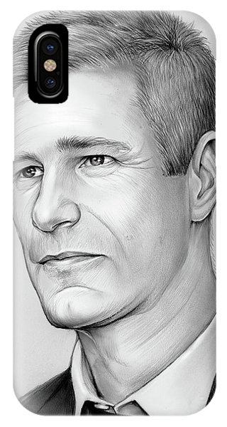 Knight iPhone Case - Aaron Eckhart by Greg Joens