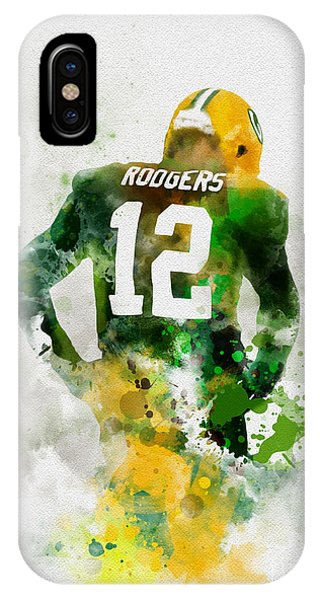 Yard iPhone Case - Aaron Rodgers by Rebecca Jenkins