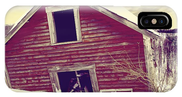 Barn Snow iPhone Case - Abandoned Barn by Mindy Sommers
