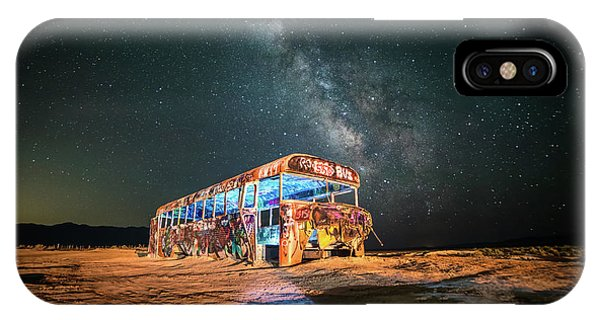 Abandoned Bus Under The Milky Way IPhone Case