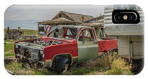 Abandoned Car And Trailer In The Ghost Town Of Cisco, Utah IPhone Case