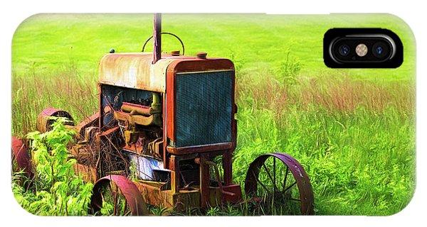 Abandon iPhone Case - Abandoned Farm Tractor by Tom Mc Nemar