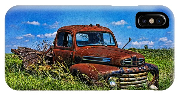 Abandoned Ford Truck In The Prairie IPhone Case