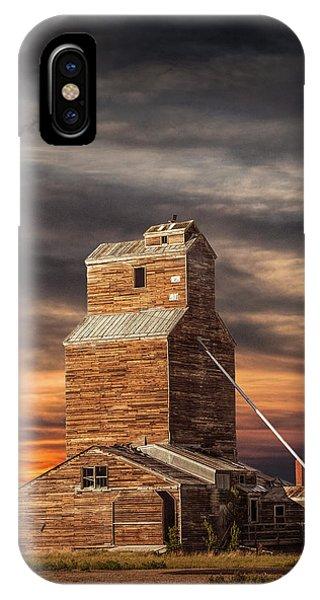 Abandoned Grain Elevator On The Prairie IPhone Case