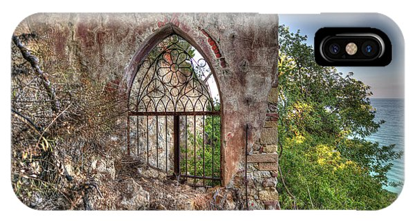 Abandoned Places Iron Gate Over The Sea - Cancellata Sul Mare IPhone Case