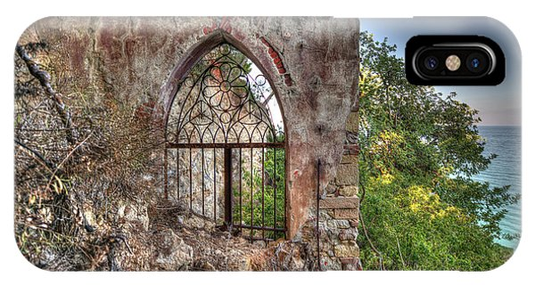 IPhone Case featuring the photograph Abandoned Places Iron Gate Over The Sea - Cancellata Sul Mare by Enrico Pelos