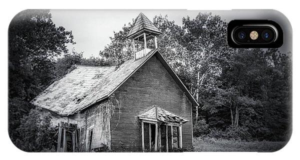 Abandoned Houses iPhone Case - Abandoned Schoolhouse by Tom Mc Nemar