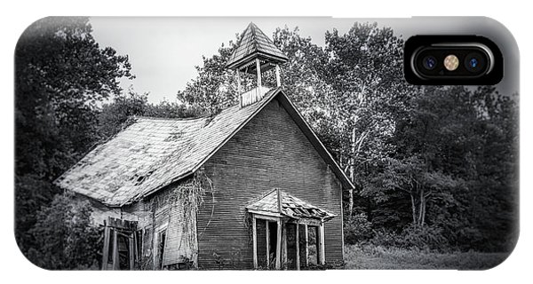 Building iPhone Case - Abandoned Schoolhouse by Tom Mc Nemar